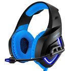Headset 3.5mm Stereo Bass Headband Headphone with Mic LED Light for PC Gaming