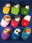 Realistic Meowing Furry Kitten Cat in Knitted Slippers Pick Your Color