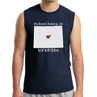 My Heart Belongs In WY Men's Sleeveless Proud Wyoming Love Muscle Tee - 1927C
