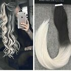 dark blonde hair ombre - Ombre Dark Brown Ash Blonde Remy Invisble PU Tape in Human Hair Extensions 20pcs