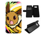 Eevee Pokemon Video Game Leather Flip Phone Case for LG Samsung Galaxy iPhone