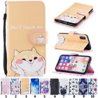 PU Leather Magnetic Wallet Case Folio Flip Cover Stand Card Slot for iPhone X 8