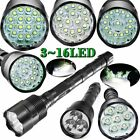 Military Tactical 80000LM LED 16x T6 LED 5Mode 18650 Flashlight Torch Lamp Light