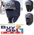 USPS Postal Trapper Trooper Bomber Aviator Fur Winter Hat w/Facemask by PCA Etc