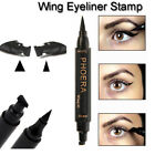 PHOERA 2 in 1 Wing Stamp Waterproof Long Lasting Shimmer Liquid Eyeliner Hot