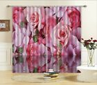 3D Rosa Blumen 679 Blockout Photo Curtain Print Curtains Drapes Fabric Window AU