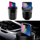 Qi Wireless Charger Car Cup Mount Phone Fast Charging Holder For iPhone X 8 7/6s