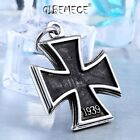 316L Stainless Steel  Iron Cross German WW2 Pendant Necklace Unqiue Chain Gift