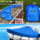 14%2D16FT+Tri%2DHull+Trailerable+Fish+Ski+Boat+Cover%2BStorage+Bag%2BRope++Waterproof+US