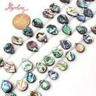 """Natural Top-Drilled  Drop Mutil-Color Abalone Sea Shell Rainbow Stone Beads 15"""""""