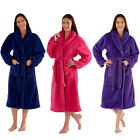 Womens Dressing Gown Ladies Fleece Lady Olga Luxury Winter Warm Robe Plus Size