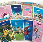 10 PACK BIRTHDAY PARTY BAGS SPIDERMAN HELLO KITTY SUPERMAN MINIONS PARTY