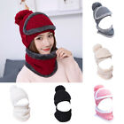 1 PC Woman Hat Velvet Beanie Scarf Mask Knitted Warm Winter Best Gift Fashion