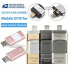 32 64 128 256GB i Flash Drive USB OTG Device Storage Memory Stick For iPhone iOS