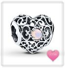 Genuine Pandora Signature Heart BIRTHSTONE Charm Moments Bead 12 Months