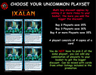 MTG Rivals of Ixalan RIX Choose your Uncommon Playset (x 4 cards) In Stock