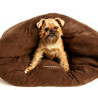 Snuggle Pod Dog Bed & Cat Bed - DARK CHOCOLATE MICROSUEDE - Large