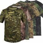 Summer Racing Sports Army Camo Tee Camouflage T-Shirt Short Sleeved Casual Hunti
