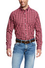Ariat Men's Long Sleeve Wrinkle Free Jack Plaid Shirt - Hawthorn Rose