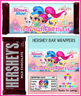 SHIMMER AND SHINE BIRTHDAY PARTY FAVORS CANDY BAR HERSHEY BAR WRAPPERS
