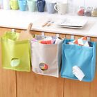 Use Kitchen Breathable Mesh Wall Hanging Plastic Garbage Storage Bag Pouch New