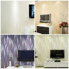 Home Living Room Non-woven Water Plant 3D Flocking TV Background Wallpaper Roll