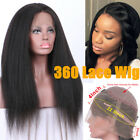 Italian Yaki 360 Lace Frontal Wig Pre Plucked Indian Remy Human Hair 360 Wig 7A