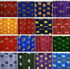 NCAA Fabric Shower Curtains 27 Teams Cotton Sateen College Covers