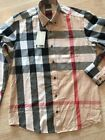 2017 Hot Burberry Brit Check Men's Casual Dress Shirt Size S-3XL FREE SHIPPING
