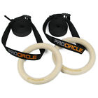 Procircle Wood Gymnastic Ring Olympic Strength Training Gym Rings with Straps
