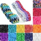 NEW 185-200pcs Refill Loom Rubber Bands With S Clips Loom Tool LM