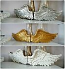 Wall Mounted Hanging Vintage Shabby Chic Angel Wings Cherub Garden Decoration Uk