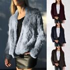 New! Thick Knitted Real Rabbit Fur Coat Women Spring Style Rabbit Fur Top Jacket