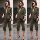 Womens Clubwear Playsuit Casual Long Sleeve Party Jumpsuit&Romper Trousers Pants