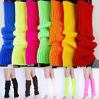 LEG WARMERS Leggings High Knitted Womens Neon Party Knit Ankle Fluro Costume New