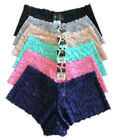 Lot 6 or 12 Womens Sexy Hipster Cheeky Boxers Lace Boyshorts Panty S-3XL