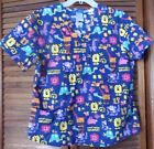 Nickleodeon Wubzzy scrub top-Women's size medium