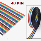 1M~10M 1.17mm 40PIN Dupont Wire Flat Color Flexible Rainbow Ribbon Jumper Cable