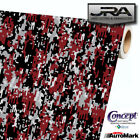 Combat Red Digital Camouflage Vinyl Car Wrap Camo Film Decal Sheet Roll