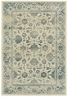 Ivory Bordered Bulbs Blossoms Iris Traditional-European Area Rug Floral 7909A