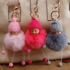 Cute Little Baby Fur Fluffy Keychains Key Ring Baby Gifts Jewelry Pendant Charms
