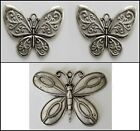 METAL CHARM #850 x 2 or 10 Butterfly large 59mm silver for suncatcher, necklace