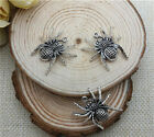 NEW Wholesale 6pcs Tibet silver Crafts Charms Pendants Making Jewelry spider DIY