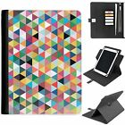 U-AZT02 TRIANGLE UNIVERSAL PROTECTIVE TABLET LEATHER FLIP WALLET 360 SWIVEL CASE