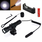 XML T6 LED Tactical Flashlight Torch Bracket Light Mount for Hunting Gun Rifle
