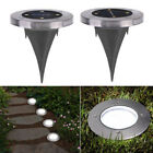 Solar Powered Ground Light Underground 4LED Deck Buried Light Outdoor Floor Lamp