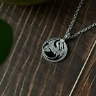 Lovely Dragon Silver Pewter Charm Necklace Pendant Jewelry