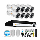POE 1080P 8CH CCTV Outdoor Securtiy Network Home IP Camera System 2MP NVR Kit