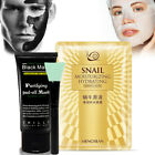 activated carbon face mask - Ultimate Purifying Activated Charcoal Carbon Face Mask + Brush + Snail Face Mask