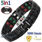 Cu+Bio PURE TITANIUM BIO THERAPY MAGNETIC 5 IN 1 BRACELET MEN +ADJUSTER T03BBV image
